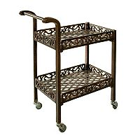 Oakland Living Lattice Patio Serving Cart