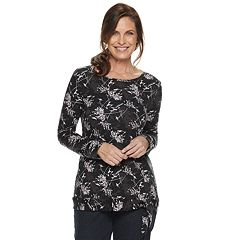 Women's Croft & Barrow® Print Side-Tie Top