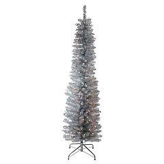 Northlight Seasonal 6-ft. Pre-Lit Indoor / Outdoor Silver Tinsel Artificial Christmas Tree