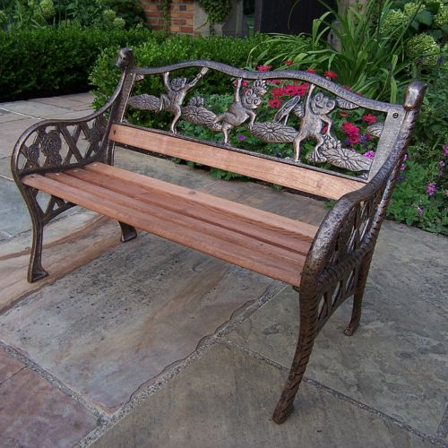 Oakland Living Giraffe and Frog Children's Patio Bench - Outdoor