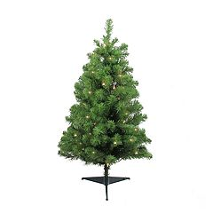 Northlight Seasonal 3-ft. Pre-Lit Traditional Noble Fir Artificial Christmas Tree