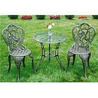 Oakland Living 3 pc Hummingbird Bistro Patio Set - Outdoor
