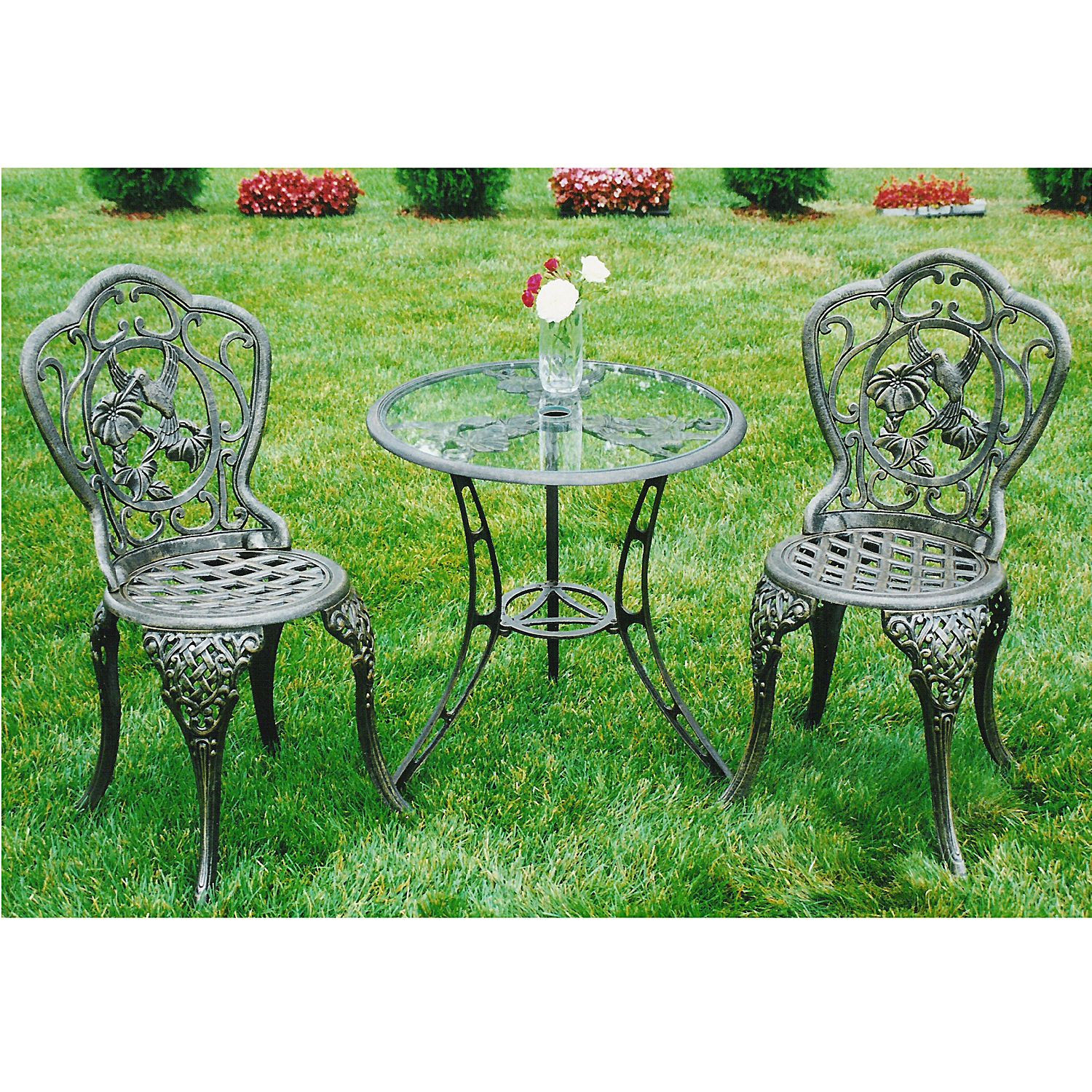 Hummingbird Bistro Patio Set   Outdoor