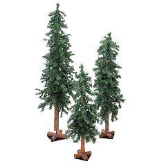 Northlight Seasonal 3-ft, 4-ft. & 5-ft. Indoor / Outdoor Woodland Alpine Artificial Christmas Tree Set