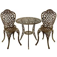 Oakland Living 3 pc Lattice Bistro Set