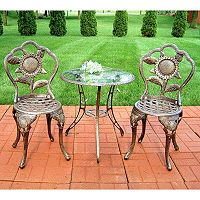 Oakland Living 3 pc Sunflower Bistro Patio Set - Outdoor
