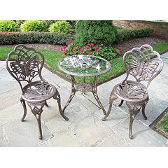 Oakland Living 3 pc Butterfly Bistro Set