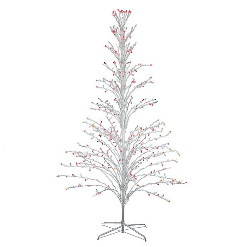 Pre Lit Christmas Twig Tree: Northlight Seasonal 6-ft. Multicolored Pre-Lit Christmas
