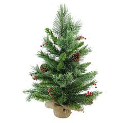 Northlight Seasonal 24-in. Mixed Cashmere Berry Pine Artificial Christmas Tree