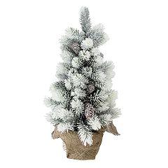 Northlight Seasonal Indoor / Outdoor 19-in. Flocked Pine Christmas Tree