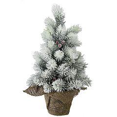Northlight Seasonal Indoor / Outdoor 15-in. Flocked Pine Christmas Tree