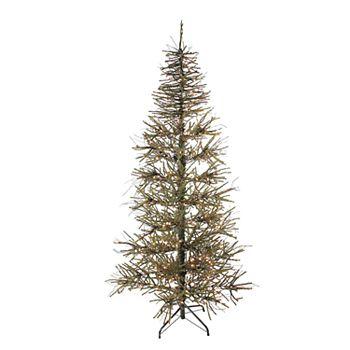 Northlight Seasonal 6 Ft Pre Lit Slim Warsaw Twig Artificial Christmas Tree
