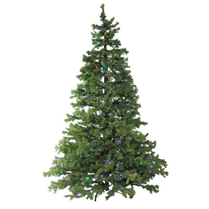 Northlight Seasonal 7.5-ft. Pre-Lit LED Pine Artificial Christmas Tree, Green