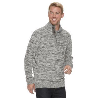 Men's Method Regular-Fit Button Mockneck Sweater