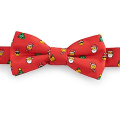 Boys 4-20 Chaps Christmas Emoji Bow Tie