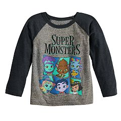 Toddler Boy 'Super Monsters' Raglan Graphic Tee
