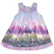Girls 4-6x Blueberi Boulevard Unicorn Chiffon Dress