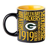 Boelter Green Bay Packers Matte Black Coffee Mug