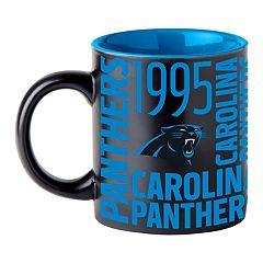 Boelter Carolina Panthers Matte Black Coffee Mug