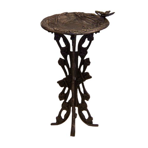 Oakland Living Butterfly & Dragonfly Antique Birdbath - Outdoor
