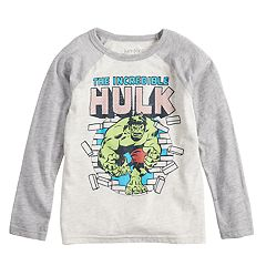 Boys 4-12 Jumping Beans® Marvel The Hulk Raglan Graphic Tee