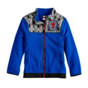 Boys 4-7 Marvel Spider-Man Fleece Mock Neck Zip Lightweight Jacket