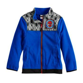 Boys 4-7 Marvel Spider-Man Fleece Mock Neck Zip Lightweight Jacket