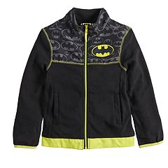 Boys 4-7 DC Comics Batman Logo Zip Mock Neck Lightweight Jacket