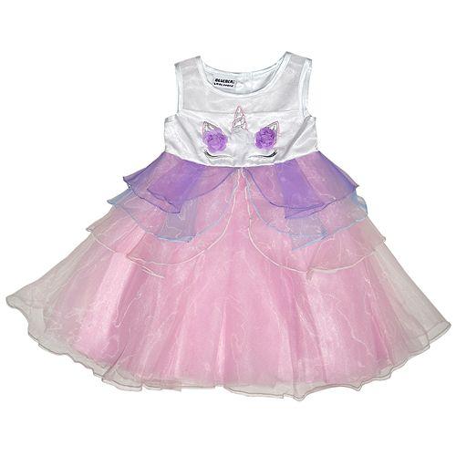 d29ccdf9492ee Girls 4-6x Blueberi Boulevard Unicorn Dress & Headband Set