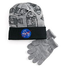 fd4a6778d813a Boys 4-20 Nasa Hat   Gloves Set
