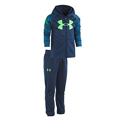 Boys 4-7 Under Armour Bedrock Camo Raglan Zip Hoodie & Pants Set