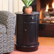 Decor Therapy Keaton Round Storage End Table