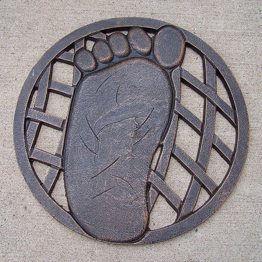 Oakland Living Footprint Garden Stepping Stone - Left - Outdoor