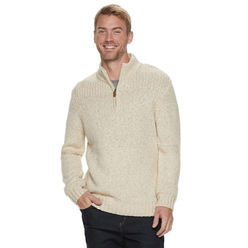 Men's Method Regular-Fit Mockneck Quarter-Zip Sweater