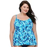 Plus Size Croft & Barrow® Flare Tankini Top