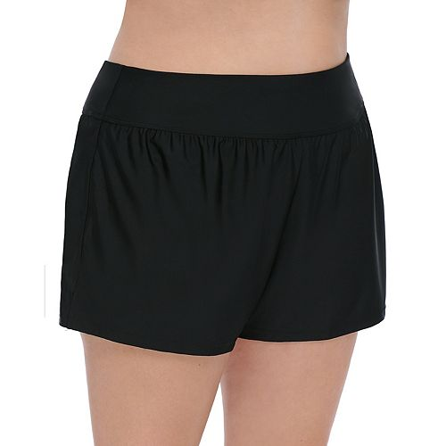 Plus Size Croft & Barrow® Tummy Slimmer High Rise Swim Shorts