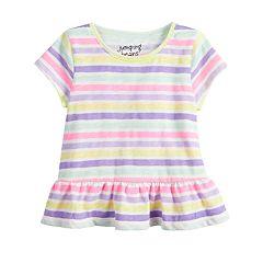 Baby Girl Jumping Beans® Striped Peplum-Hem Top