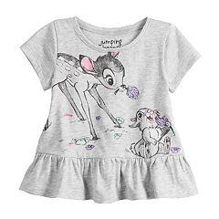 Disney's Bambi & Thumper Baby Girl Graphic Peplum-Hem Top by Jumping Beans®