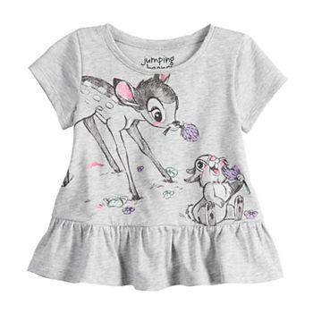 89e5acc378c1 Disney's Bambi & Thumper Baby Girl Graphic Peplum-Hem Top by Jumping Beans®