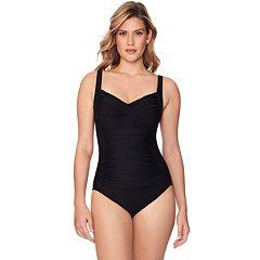 cf0c5e97e42 Women's Croft & Barrow® Waist Minimizer Lace-Up Back One-Piece Swimsuit