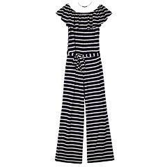 71961cdaebbf Girls 7-16 IZ Amy Byer Striped Off-the-Shoulder Jumpsuit