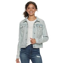 Juniors' Mudd® Faded Jean Jacket