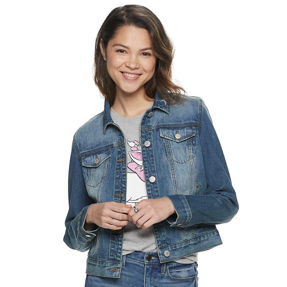 Juniors' Mudd® Faded Jean Jacket