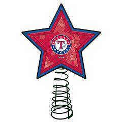 Texas Rangers Mosaic Christmas Tree Topper