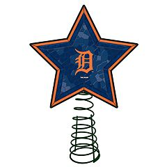 Detroit Tigers Mosaic Christmas Tree Topper