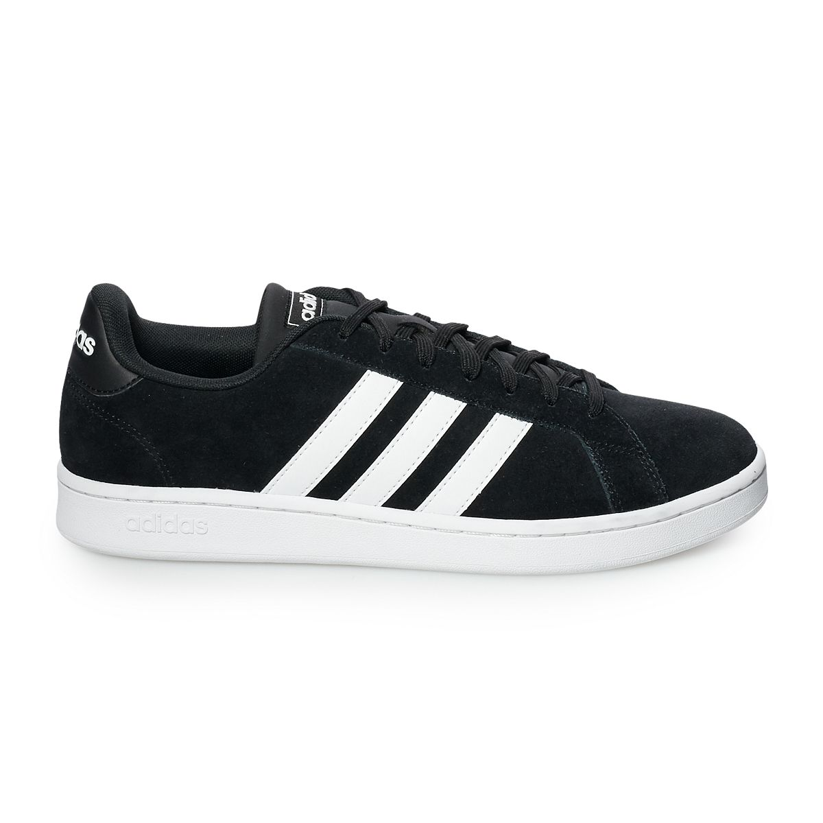 adidas Grand Court Men's Suede Sneakers Gray White RvnrW