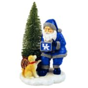 Kentucky Wildcats Santa with LED Christmas Tree Figurine