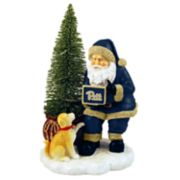 Pitt Panthers Santa with LED Christmas Tree Figurine