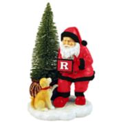 Rutgers Scarlet Knights Santa with LED Christmas Tree Figurine