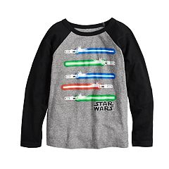 Boys 4-12 Jumping Beans® Star Wars Light Sabers Raglan Tee